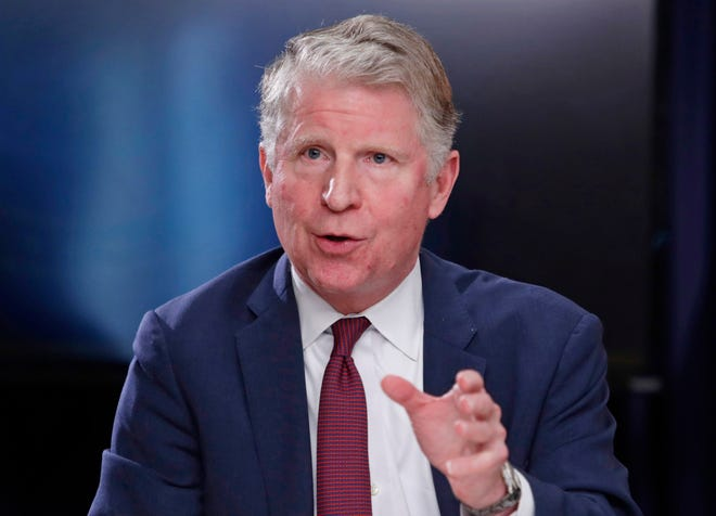 FILE - In this May 10, 2018, file photo, Manhattan District Attorney Cyrus R. Vance, Jr., responds to a question during a news conference in New York. Vance Jr. fought for a year and a half to get access to former President Donald Trump's tax records. Now, thanks to a U.S. Supreme Court ruling, he will soon have them. But what will that mean for the Democrat's investigation into Trump's business affairs? Former prosecutors say the trove of records could give investigators new tools to determine whether Trump lied to lenders or tax officials. The former president has argued for years that he broke no laws and has been unfairly targeted by Democrats for political reasons. (AP Photo/Frank Franklin II, File)