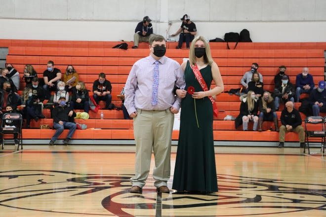 Ethan Macdowell and Rileigh Laundy, pictured as part of the Rudyard Sweethearts Court of 2021.