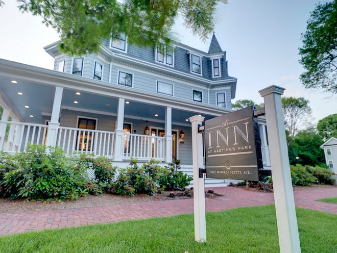 The Inn at Hastings Park in Lexington comprises three buildings dating to the late 1800s, including a converted barn, all set around a courtyard.