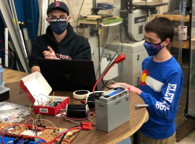 The Watertown High School Robotics Team #2423 takes on their fourth week of the Infinite Recharge at Home and Game Design challenges.