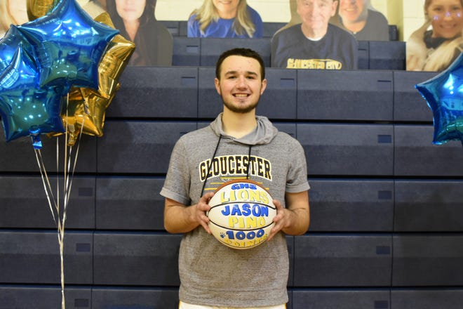 Gloucester's Jason Pino scored his 1,000th career point during a 58-56 setback to Haddon Heights on Monday.