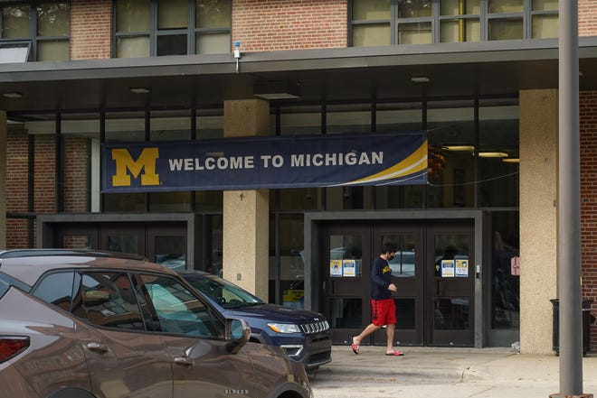 The Mary Markley dorms on the University of Michigan campus in Ann Arbor on Tuesday, October 20, 2020.