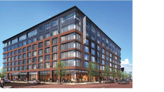 The proposed seven-story Godfrey Hotel in Corktown would have 277 rooms