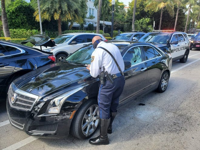An 18-year-old from Lehigh Acres is facing multiple charges stemming from a car chase through the streets of Miami Beach on Sunday. Miami Beach Police said a the above pictured stolen car was involved.