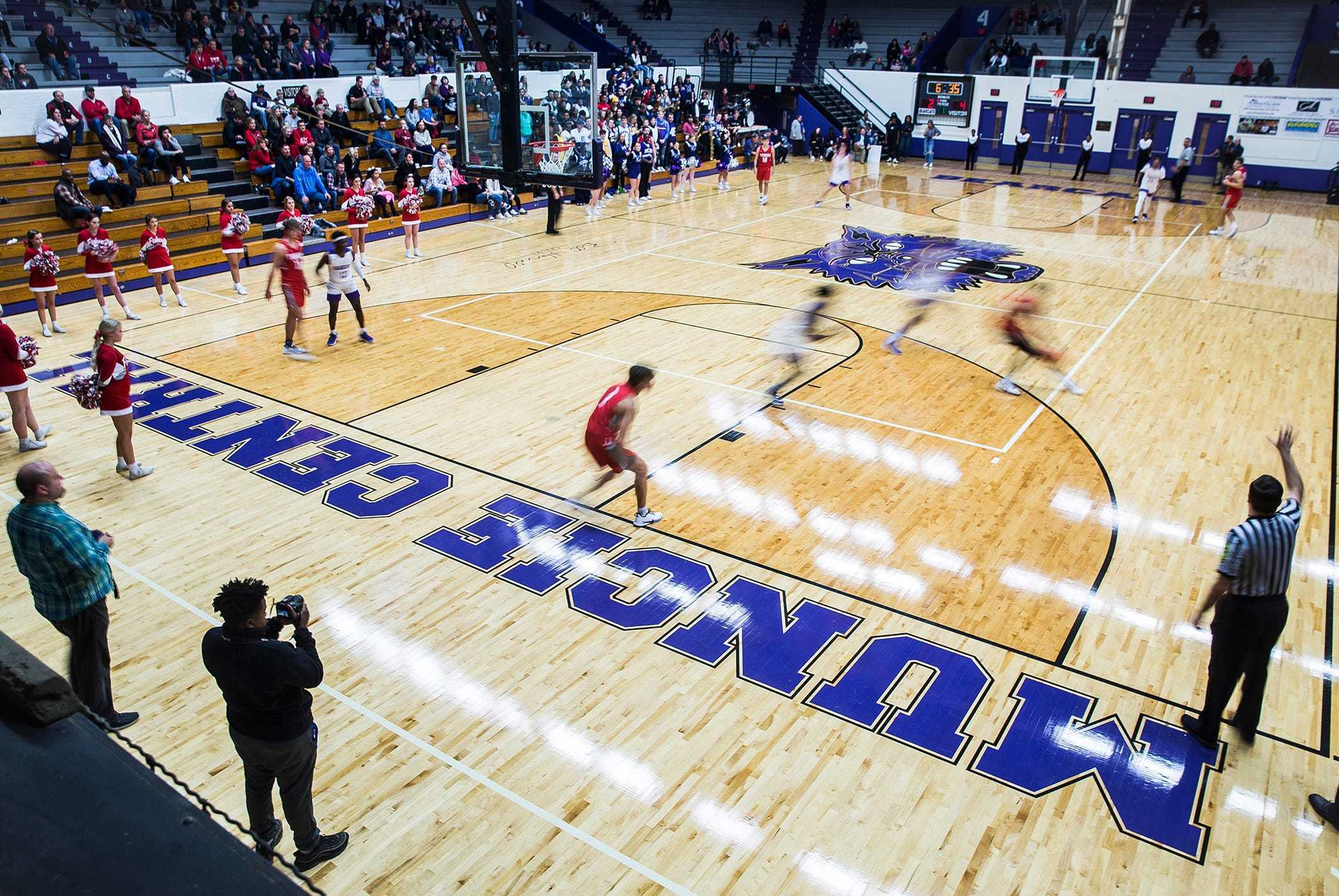 Central played for the first time in the newly reopened Muncie Fieldhouse Tuesday evening.