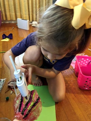 Avery Guidry, 6, is this week's guest on the Homestyle podcast, which is all about life, family, cooking and crafting. Avery, daughter of co-host Leigh Guidry, is an expert crafter and gives the kid's perspective in the latest episode. Listen on your favorite podcast app or at theadvertiser.com.