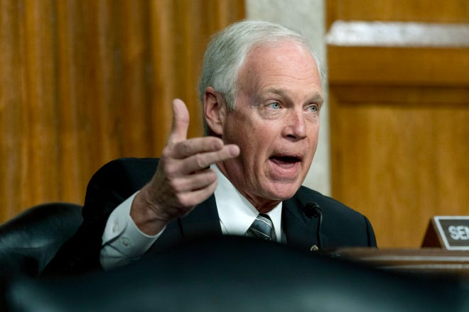 Sen. Ron Johnson, R-Wis., speaks during a Senate Homeland Security and Governmental Affairs & Senate Rules and Administration joint hearing on Feb. 23, 2021, in Washington, D.C. The committee heard testimony about the law enforcement preparation for and response to the attack on the U.S. Capitol on Jan. 6, 2021.
