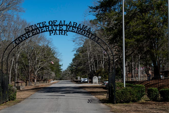 The Confederate Memorial Park in Marbury, Ala., on Tuesday, Feb. 23, 2021.