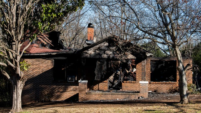 The scene of a fatal house fire in the 1800 block of Gibson Street in Montgomery, Ala., on Tuesday February 23, 2021.