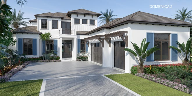 Imperial Homes of Naples' Domenica II model in Peninsula Treviso Bay is available to purchase with a lease-back agreement.