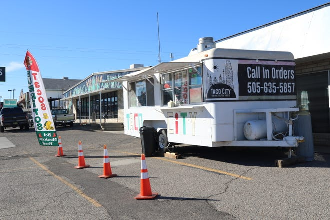 The Taco City Food Truck is parked outside the Lauter Haus Brewing Company on Feb. 22, 2022. The Farmington Women's Business Center will offer a four-week course on the basics of food truck operation in March.