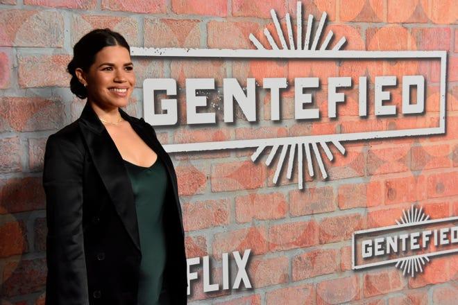 """La productora America Ferrera durante la presentación de """"""""Gentefied"""""""", nueva serie de Netflix, en Los Ángeles, Estados Unidos."""