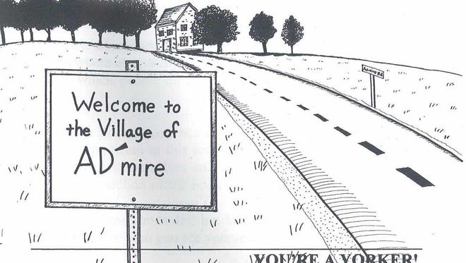 Here's Curvin Diffenderfer's take on the unsuspected pronunciation of the village of Admire in Dover Township.