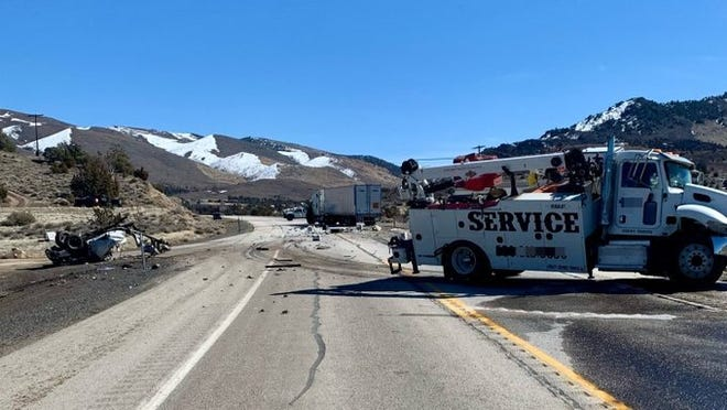 A fatal three-car crash on Feb. 23, 2021 near Gardnerville.
