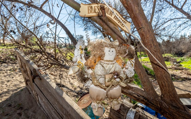 Residents of the encampment on the Tule River near Porterville spoke about their concerns following notices from the Tulare County Sheriff Department to vacate the area without a place to go.
