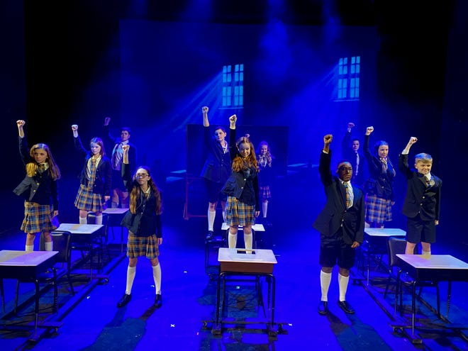 """Matilda and her classmates in Crunchem Hall in """"Roald Dahl's Matilda the Musical"""" set to open at the Wichita Theatre this weekend at 7 p.m. Friday; 2 p.m. and 7 p.m. Saturday and 2 p.m. Sunday. The show runs through March 13."""