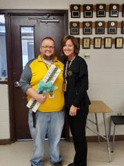 Betsy Ritchie, who works at Dresden Elementary, will be Brian Merce's kidney donor. She surprised him with the news after school on Monday, Feb. 22.