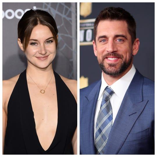 """La actriz Shailene Woodley confirmó que está comprometida con el mariscal de campo de los Green Bay Packers, Aaron Rodgers, durante una aparición en el programa. """"The Tonight Show protagonizada por Jimmy Fallon"""" en febrero."""