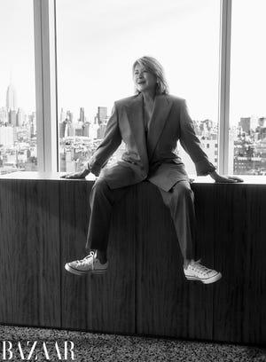 Martha Stewart for Harper's Bazaar March 2021 issue.