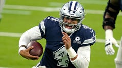 Cowboys QB Dak Prescott missed 11 games with a broken ankle in 2020.