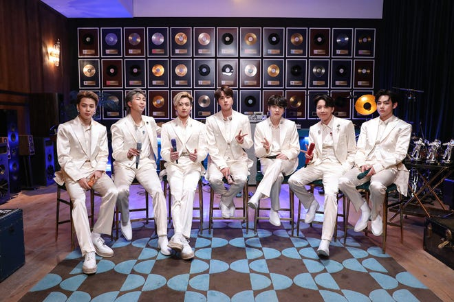 """BTS on 'MTV Unplugged', where the K-pop group performed hit song 'Dynamite' and others from latest album, """"Be""""."""