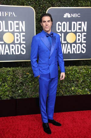 Sacha Baron Cohen arrives on the red carpet during the 77th Annual Golden Globe Awards at The Beverly Hilton Hotel.