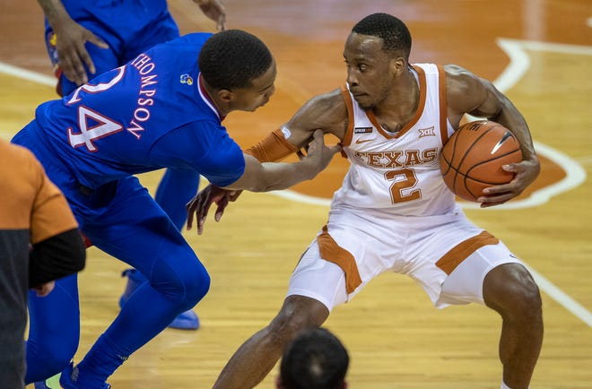 Texas guard Matt Coleman III was named the Big 12 Tournament's Most Outstanding Player. He's shooting 38.9% from 3-point range this season.