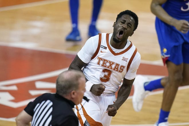 Texas guard Courtney Ramey is one of nine scholarship players now on campus for summer workouts under first-year coach Chris Beard.