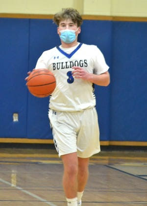 Senior Dom Betke (3) finished with 11 points and seven rounds for the Inland Lakes boys in a home victory over Bellaire on Tuesday.