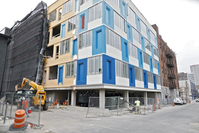Apartments being built last summer on North 3rd Street just north of Long Street in Downtown Columbus.