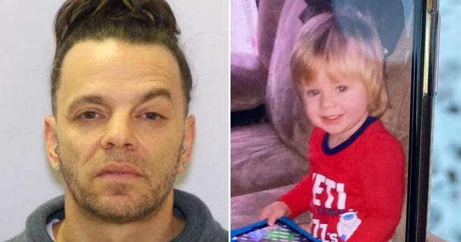 (Left) 51-year-old  suspect William Hannah is considered to be armed and dangerous. (Right) A photo of the 1-year-old boy believed to be abducted Tuesday, Feb. 23, from the Southeast Side.