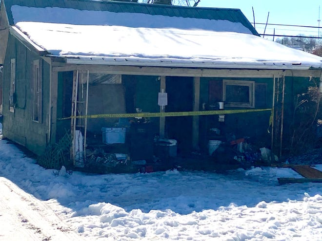 Ten adult dogs and a puppy found living in deplorable conditions at a Franklin Avenue home in Cambridge earlier this week were seized by the Guernsey County Dog Warden's Office. Authorities also found the carcasses of five dead dogs inside the home.