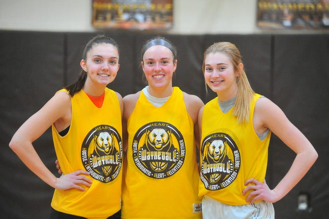 Waynedale's (left to right) Laney Murphy, Brooklyn Troyer and Kelsey Wolfe. The three standout players have led the Golden Bears to a 22-1 record this season, including 18 straight wins heading into Saturday's district final.