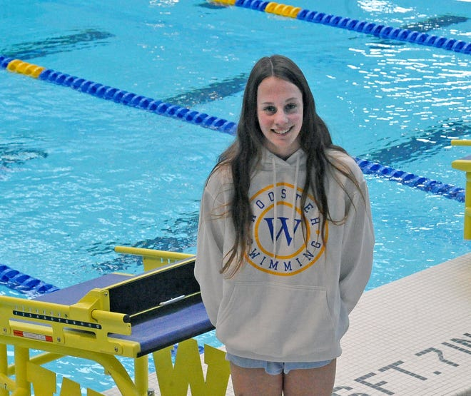 Wooster swimmer Gracie Chelf.