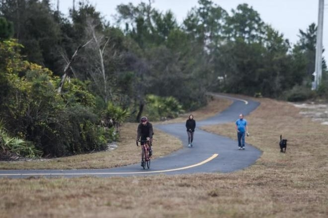 In DeBary, bicyclists and walkers alike enjoy the Spring-to-Spring Trail, which, when finished, will stretch from Gemini Springs Park, located in DeBary, to DeLeon Springs State Park.