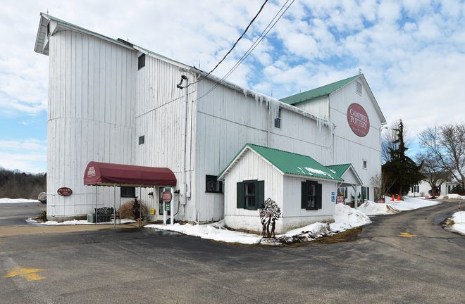 The Campbell Pottery retail shop, at 25579 Plank Rd., is shown on Wednesday.