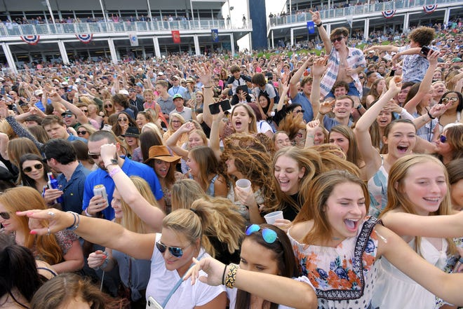 The last big concerti in the Jacksonville area before the pandemic was a Chainsmokers show at The Players Championship Military Appreciation Day on March 10, 2020.