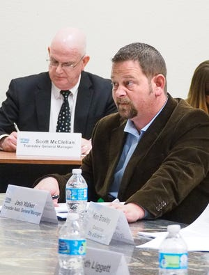 A file photo from 2016 shows Josh Walker, then assistant general manager with TAPS and Transdev. Walker, now the GM for TAPS,  has taken a new position overseeing transit operations for Transdev at Texas State University.