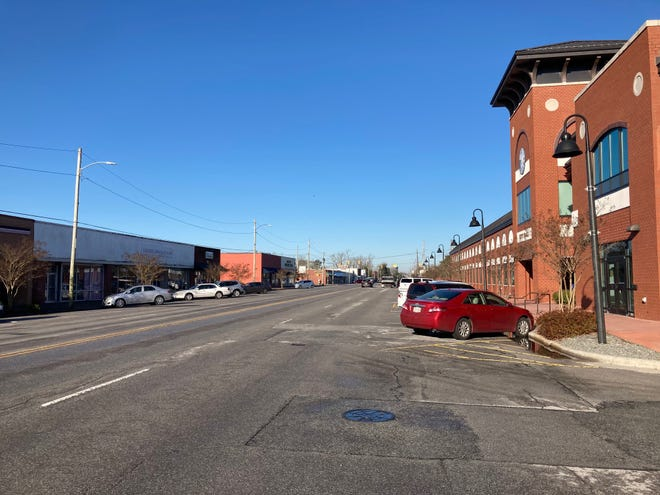 This stretch of New Bridge Street by Jacksonville City Hall will have an updated look once the city's multi-million dollar infrastructure and streetscape project is completed.