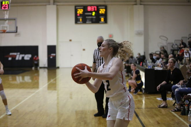 Southeastern's Haley Howarth goes up for a shot during The Sun Conference quarterfinal against Warner. Southeastern will play for a chance at reaching the Round of 16 on Saturday.