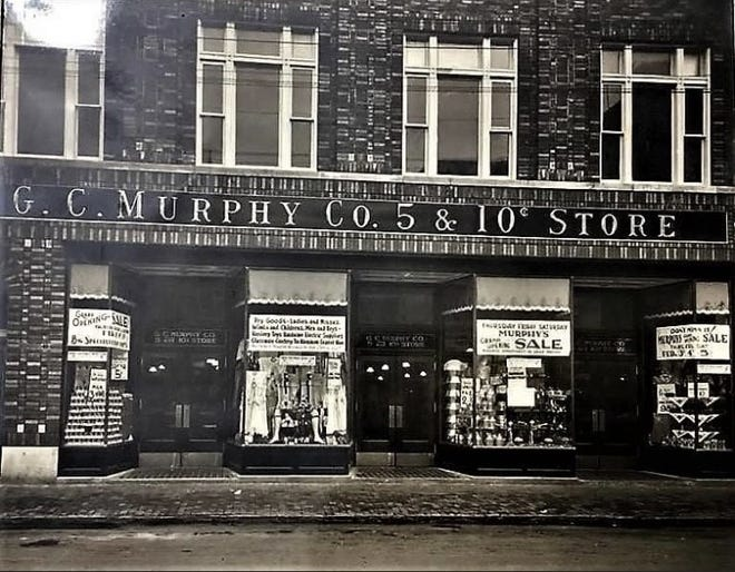 After matching some of the features of this photo with the brickwork on the former G.C. Murphy's building in downtown Keyser, local historian Dinah Courrier believes this could be a photo of the store prior to a remodel of the window fronts.