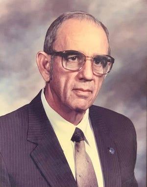 "Robert ""Gene"" Bell's portrait in Van Buren's Municipal Complex. Bell served as mayor for 12 years from 1978 to 1990."