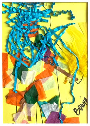 Carleton Varney got a cherished Christmas present made by his 4-year-old grandson Bowie — this colorful collage.