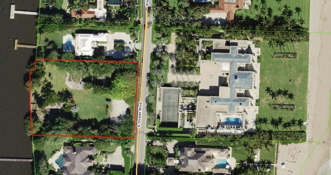 Beauty-and-hair products mogul Sydell Miller has sold for a recorded $42 million a lakefront parcel, outlined in red at 1440 S. Ocean Blvd, that once was part of her ocean-to-lake estate on Billionaires Row. In December 2019, she sold her oceanfront custom mansion, seen at center with a tennis court, in what was then a record-setting sale documented at $105 million.