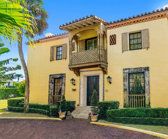 A landmarked house at 200 El Bravo Way in Palm Beach has sold for a recorded $9.61 million.