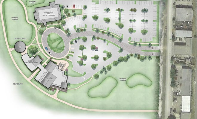 The golf park entry would be on the southeast side of the property, off Georgia Avenue. COURTESY SPINAOROURKE