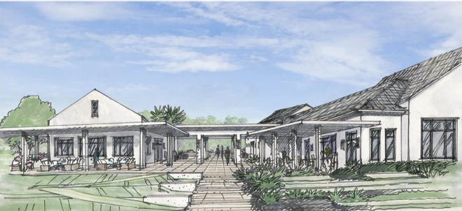 An artist's rendering of the proposed clubhouse at West Palm Golf Park. COURTESY SPINAOROURKE