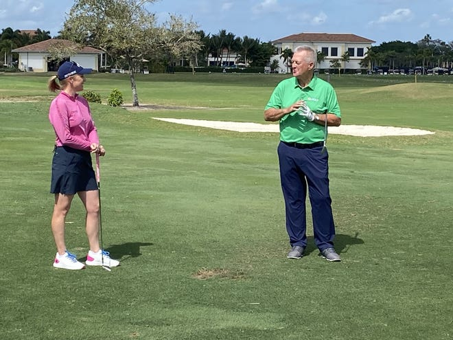 Morgan Pressel is working again with Martin Hall, The Club at Ibis' acclaimed teacher in the hopes of getting her golf game back on track.
