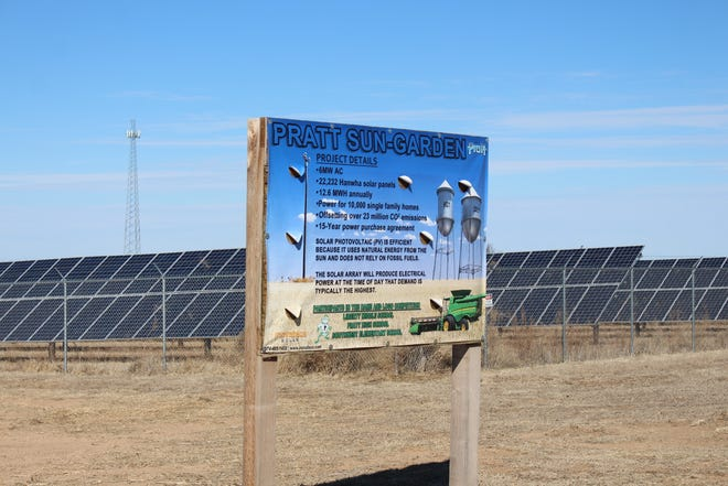 Pratt Sun Garden, the City of Pratt's solar farm, provided ample electricity last week so that rolling blackouts did not affect the city residents.