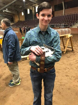 Justin Browder was 8th in a large class with his Mini Rex (Jupiter).